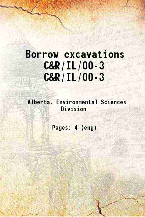 Borrow excavations C&R/IL/00-3 C&R/IL/00-3