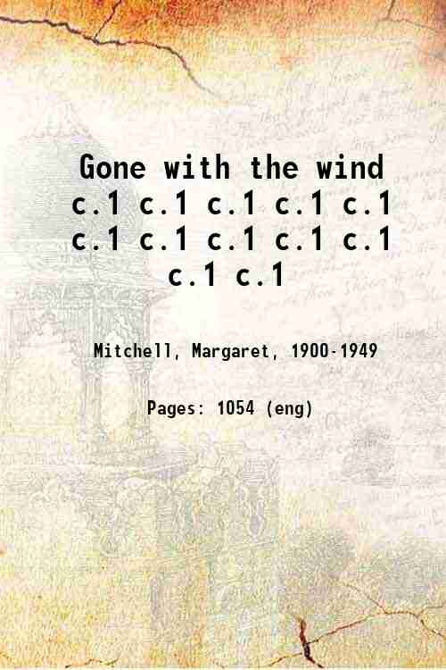 Gone with the wind c.1 c.1 c.1 c.1