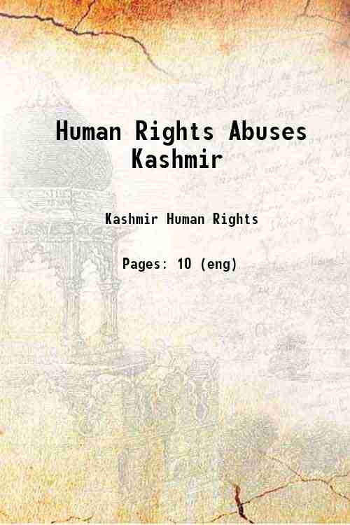Human Rights Abuses Kashmir