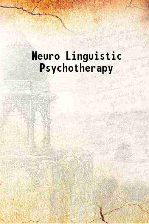 Neuro Linguistic Psychotherapy