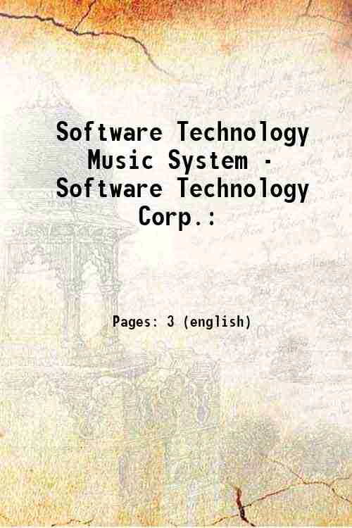 Software Technology Music System - Software Technology Corp.: