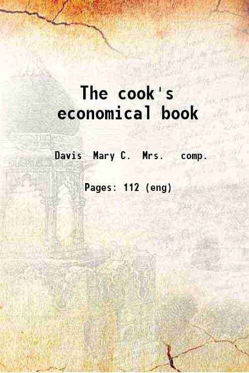 The cook's economical book