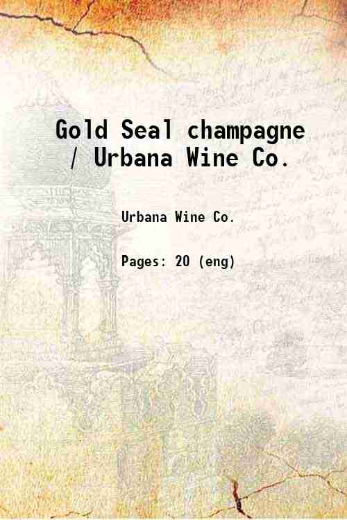 Gold Seal champagne / Urbana Wine Co.