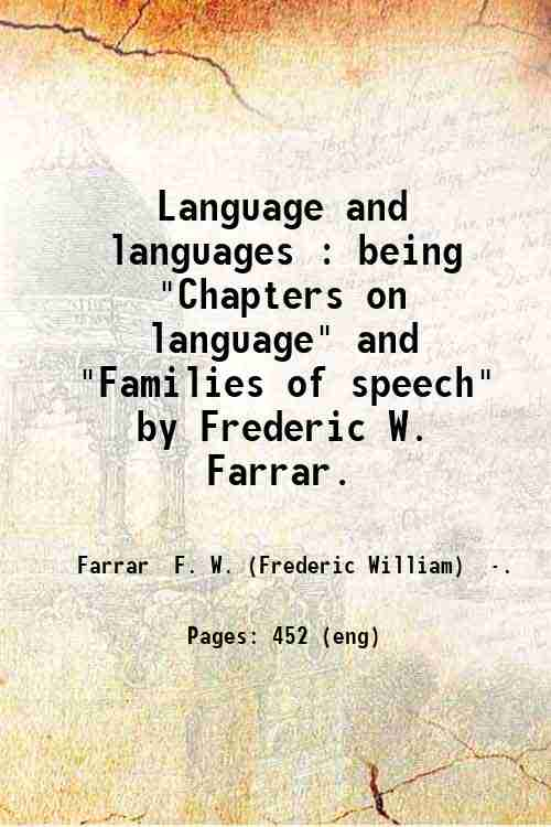 Language and languages : being