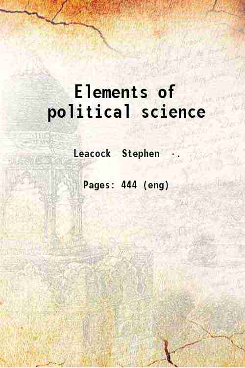Elements of political science