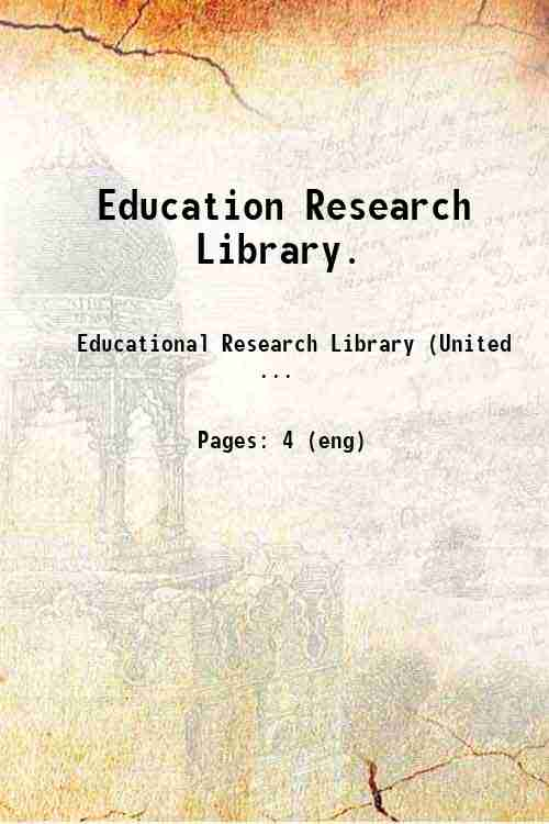 Education Research Library.
