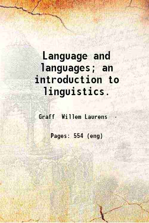 Language and languages; an introduction to linguistics.