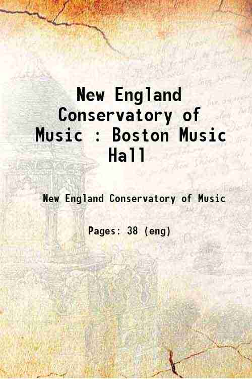 New England Conservatory of Music : Boston Music Hall