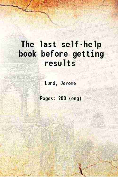 The last self-help book before getting results