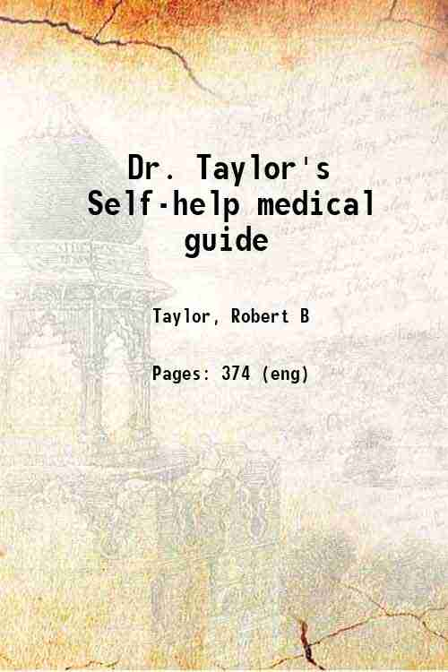 Dr. Taylor's Self-help medical guide