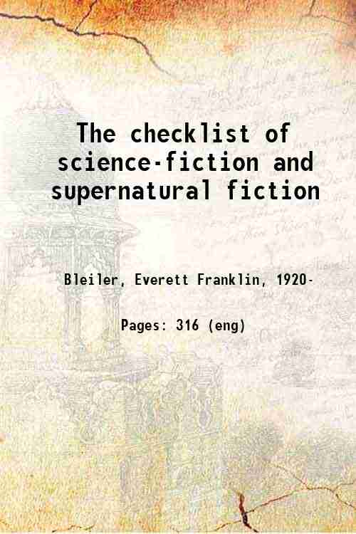 The checklist of science-fiction and supernatural fiction