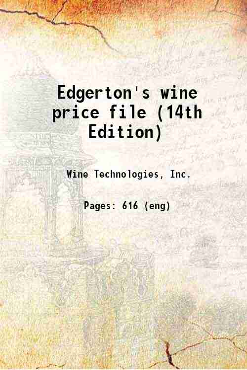 Edgerton's wine price file (14th Edition)