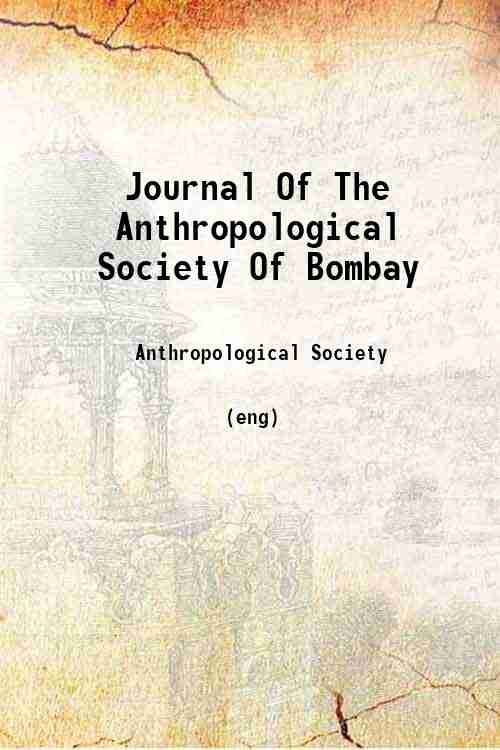 Journal Of The Anthropological Society Of Bombay