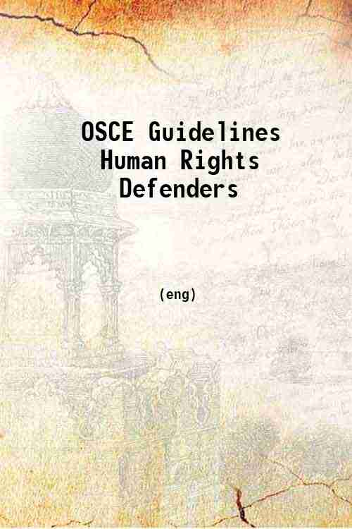 OSCE Guidelines Human Rights Defenders
