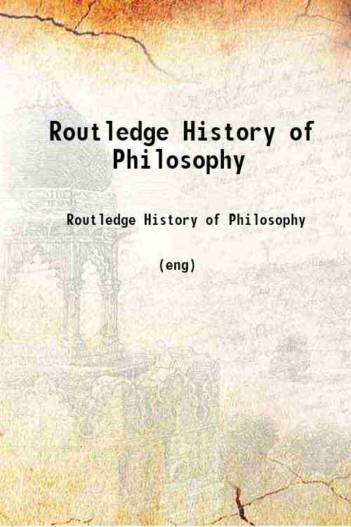 Routledge History of Philosophy
