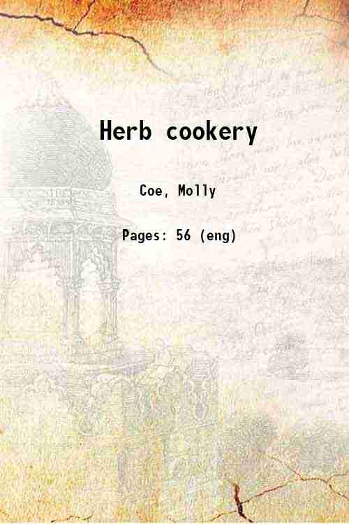 Herb cookery