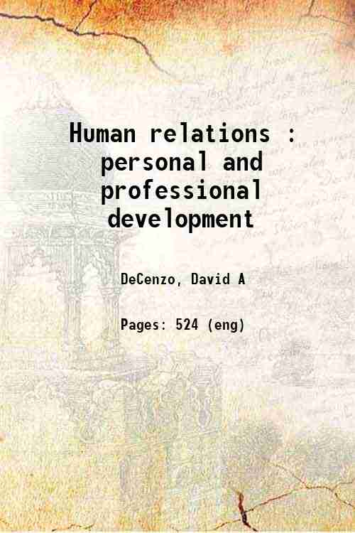 Human relations : personal and professional development