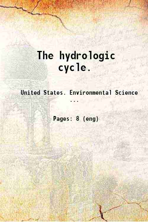 The hydrologic cycle.