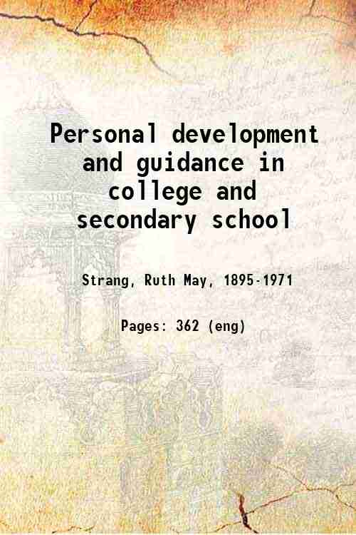 Personal development and guidance in college and secondary school