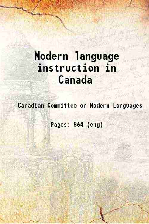 Modern language instruction in Canada