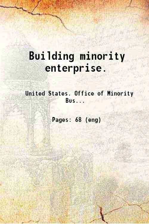 Building minority enterprise.
