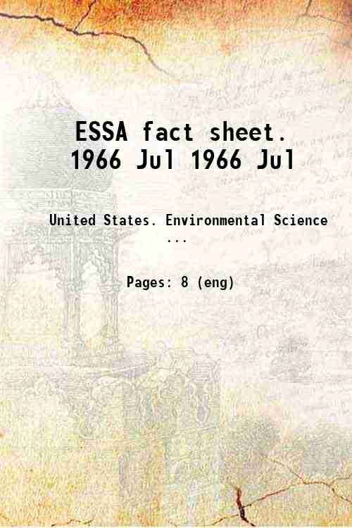 ESSA fact sheet. 1966 Jul 1966 Jul