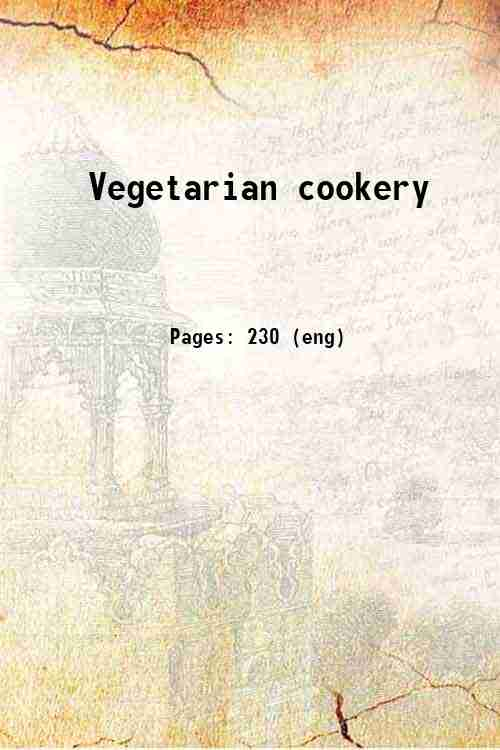 Vegetarian cookery