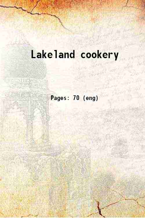 Lakeland cookery
