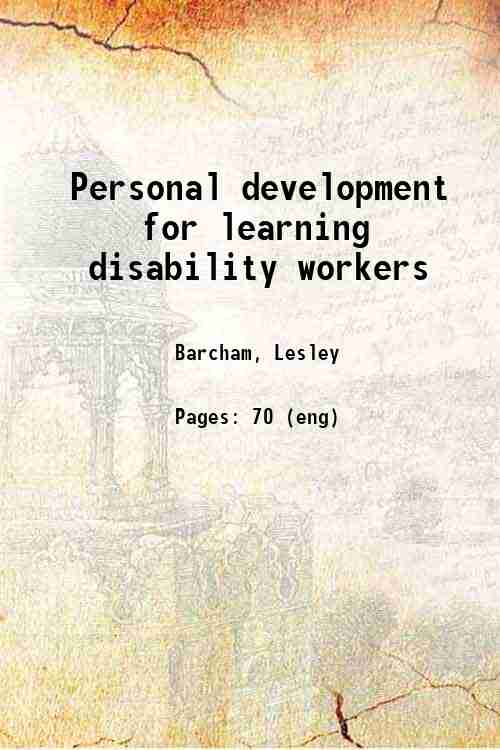 Personal development for learning disability workers