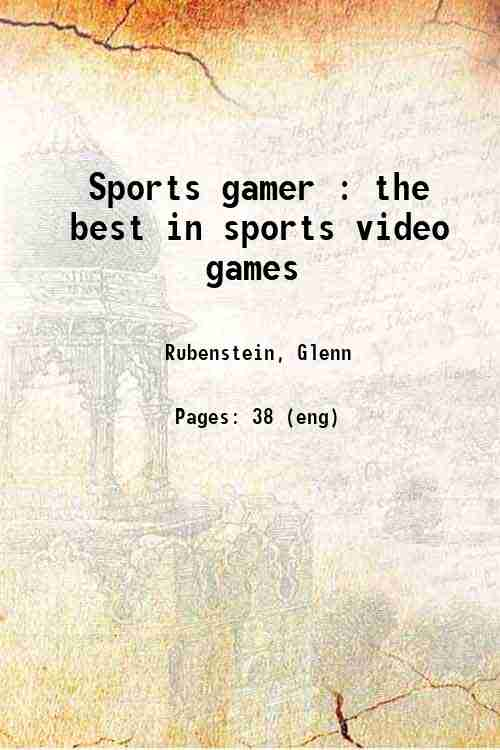 Sports gamer : the best in sports video games
