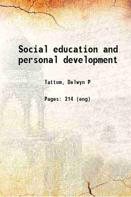 Social education and personal development